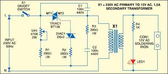 Симисторный регулятор мощности для трансформатора своими руками