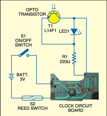 Fig. 2: Circuit for key-hole lighting device (automatic)