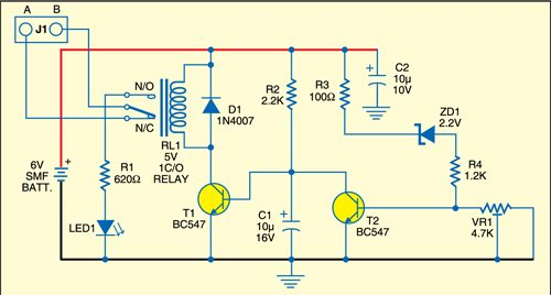 Fig. 2: Battery guard circuit
