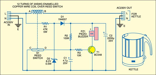 Fig. 1: Hot-water-ready alarm circuit