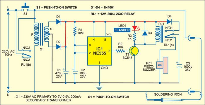 Automatic Soldering Iron Switch Circuit