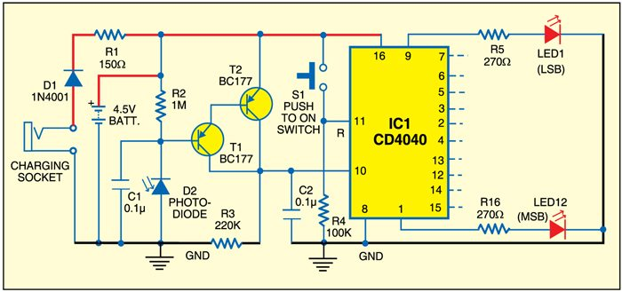 Fig. 1: Photo-counter circuit