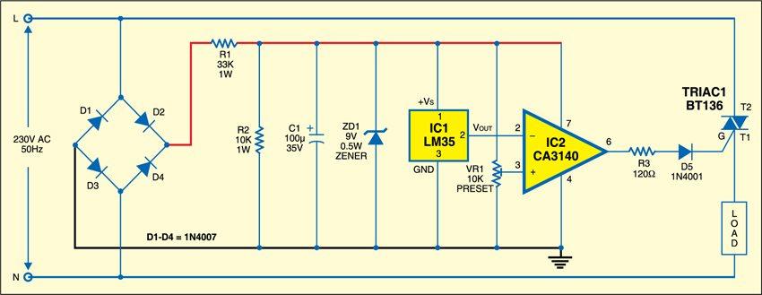 Fig. 1: Temperature controller circuit