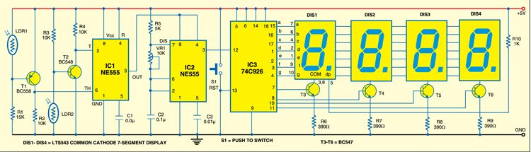 Fig. 1: Speed checker circuit