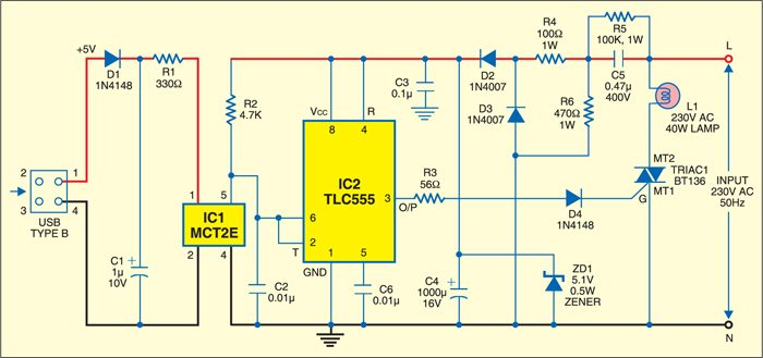 Pc table lamp project detailed circuit diagram available table lamp circuit ccuart Gallery