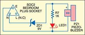 Fig. 2: Circuit of remote buzzer unit