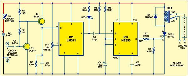 clock controlled timer circuit