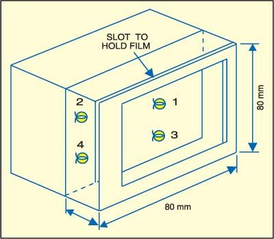 Fig. 3: Plastic case with assembled circuit