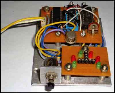 Fig. 2: Author's prototype of bipolar transistor tester