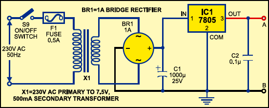 Schoolcollege quiz buzzer full circuit diagram with explanation fig 1 power supply ccuart Images