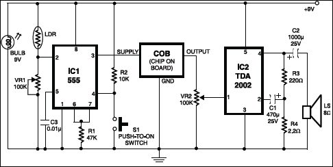 Fire Alarm Using 555 IC | Detailed Circuit Diagram Available