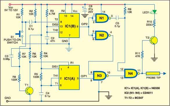 Digital pulse tester circuit