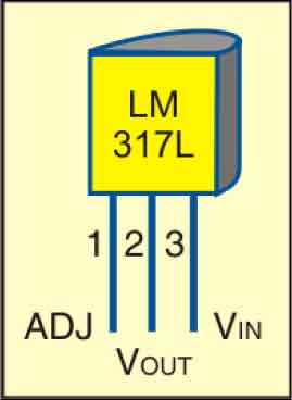 Fig. 3: Pin configuration of LM317L (To-92 package)