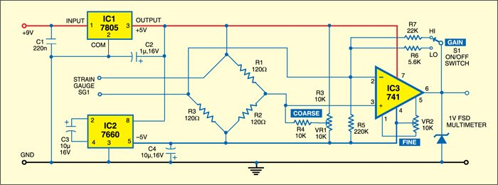 Strain Meter Project   Detailed Circuit Diagram Available
