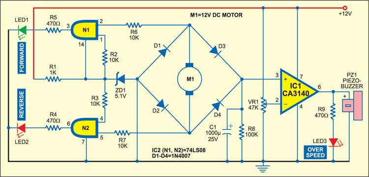 Speed indicator circuit