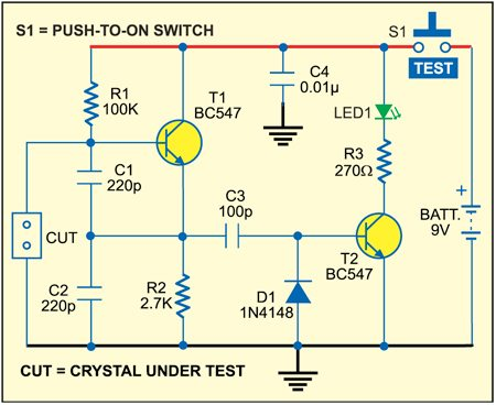 simple crystal tester electronics for you rh electronicsforu com