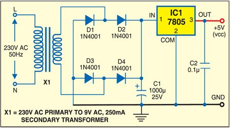 Fig. 4: Power supply circuit
