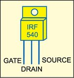 Fig. 2: Pin configuration of IRF540
