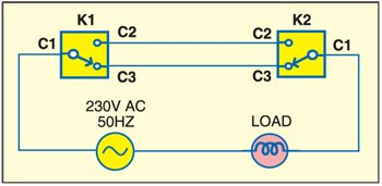 Fig. 1: Schematic for two-way witch wiring