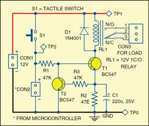 Power saving relay driver full electronics project with source code circuit diagram of the power saving relay driver ccuart Images
