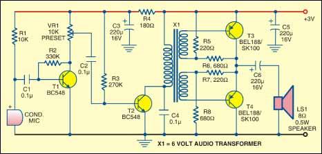 Sound monitor circuit