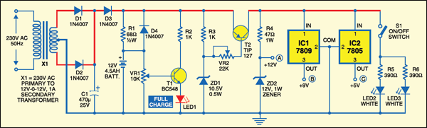 mini ups system detailed circuit diagram available rh electronicsforu com