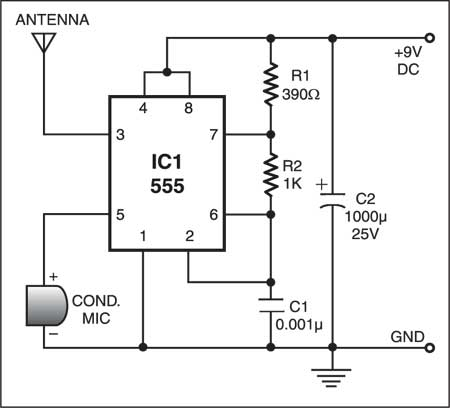 Low Range Radio Transmitter Circuit