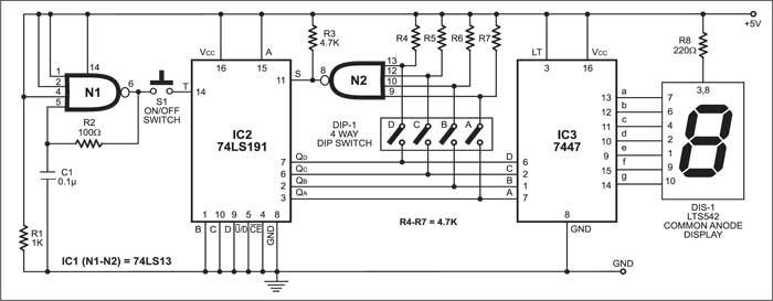 Programmable Electronic Dice | Detailed Circuit Diagram Available