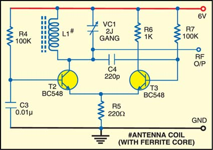 Fig. 2: Circuit for radio frequency generator