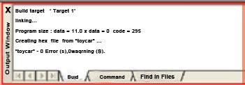 Fig.8: Program compilation output screen