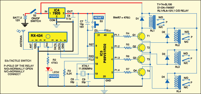 Fig.4: Circuit of receiver section