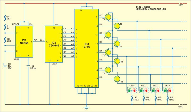 Versatile LED Display Circuit