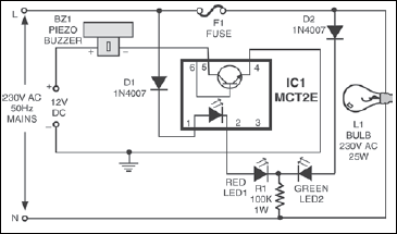 Fig.2 Blow- fuse indicator with alarm