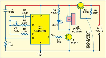 Wire Break Alarm Circuit
