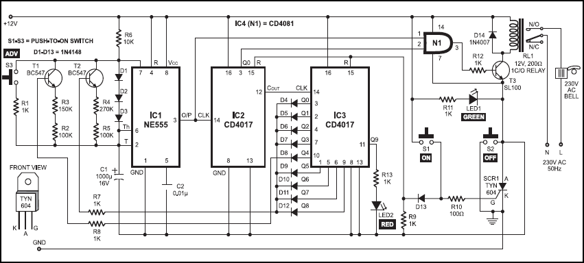 Electric Bell Circuit Diagram Group Picture Image By Tag Library