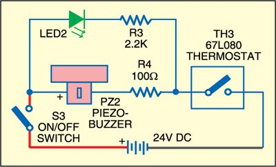 Fig. 3: Circuit for audio-visual indication