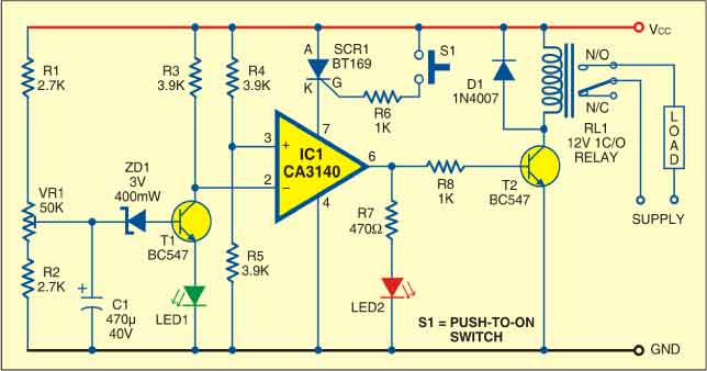 Fig. 2: Circuit of low-voltage protector