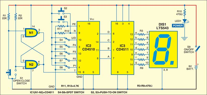 Digital Counter Project | Detailed Circuit Diagram Available