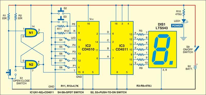 Digital Down Counter Circuit : Digital counter electronics for you