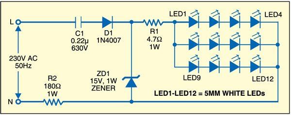 Fig. 1: Night-vision clock circuit