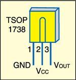 Fig. 2: Pin configuration of tsop1738