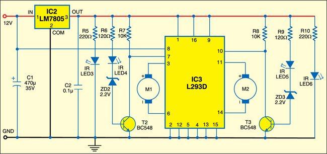 Fig. 3: Circuit diagram of path robot