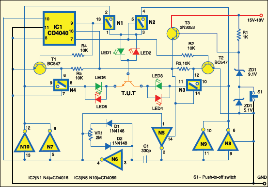 bipolar transistor tester detailed circuit diagram avaialble rh electronicsforu com