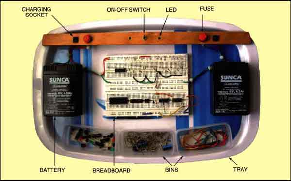 Fig. 2: Photograph of electronic workbench