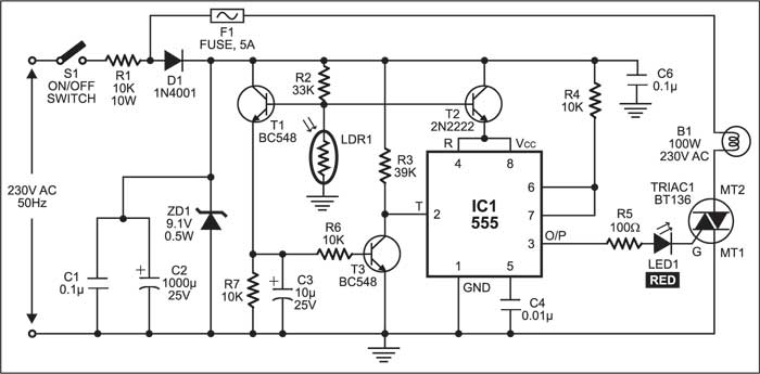 Electronic Street Light Switch | Detailed Project Available