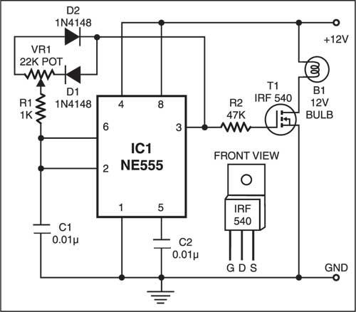 Lamp dimmer circuit
