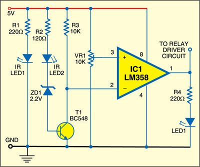 Fig. 1: Object detection circuit