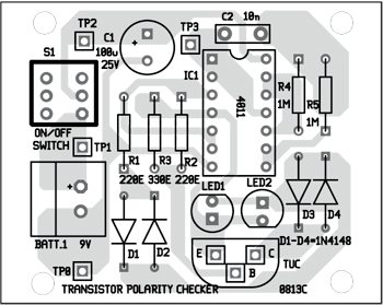 Fig. 3: Component layout for the PCB