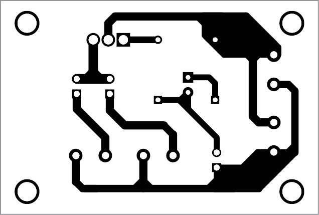 PCB pattern of the dusk-dawn controller