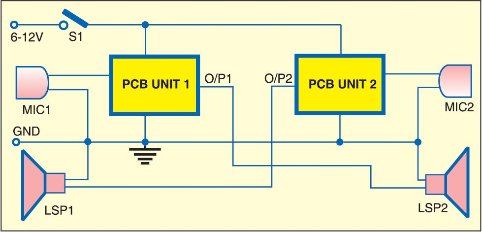 Intercom Using Lm386
